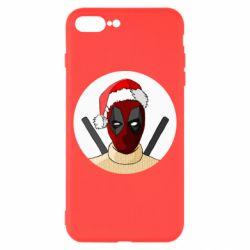 Чехол для iPhone 8 Plus Deadpool in New Year's hat