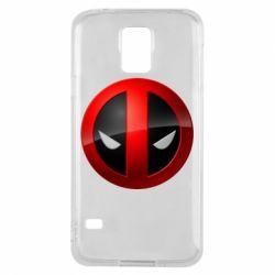 Чехол для Samsung S5 Deadpool Logo