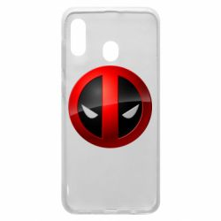 Чехол для Samsung A20 Deadpool Logo