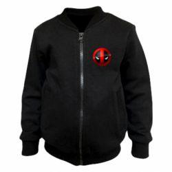 Детский бомбер Deadpool Logo