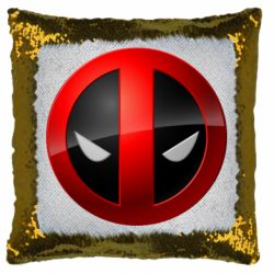 Подушка-хамелеон Deadpool Logo