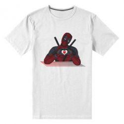 Чоловіча стрейчева футболка Deadpool love 3D model