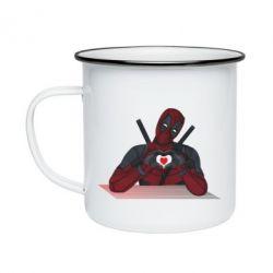 Кружка емальована Deadpool love 3D model