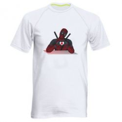 Чоловіча спортивна футболка Deadpool love 3D model