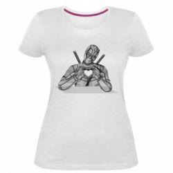 Жіноча стрейчева футболка Deadpool love 3D model
