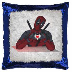 Подушка-хамелеон Deadpool love 3D model