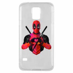Чохол для Samsung S5 Deadpool Love