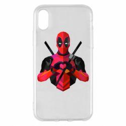 Чохол для iPhone X/Xs Deadpool Love