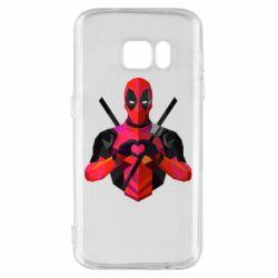 Чохол для Samsung S7 Deadpool Love