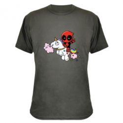 Камуфляжная футболка Deadpool on the unicorn