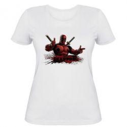 Женская футболка Deadpool Paint - FatLine