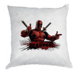 Подушка Deadpool Paint