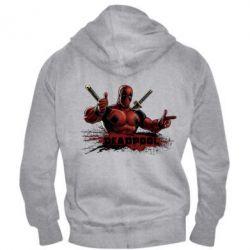 Мужская толстовка на молнии Deadpool Paint