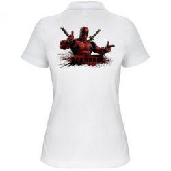 Женская футболка поло Deadpool Paint - FatLine