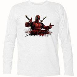 Футболка с длинным рукавом Deadpool Paint - FatLine
