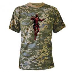 Камуфляжная футболка Deadpool - FatLine
