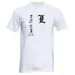 Мужская спортивная футболка Death Note and EL