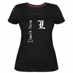 Женская стрейчевая футболка Death Note and EL