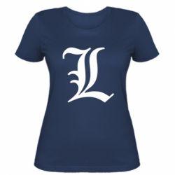 Жіноча футболка Death Note minimal logo