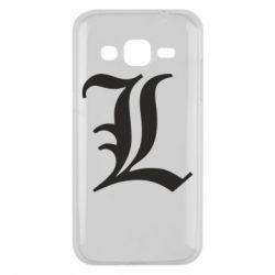 Чохол для Samsung J2 2015 Death Note minimal logo