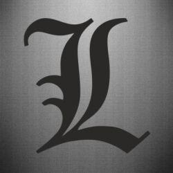 Наклейка Death Note minimal logo