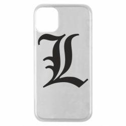 Чехол для iPhone 11 Pro Death Note minimal logo