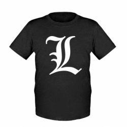 Детская футболка Death Note minimal logo