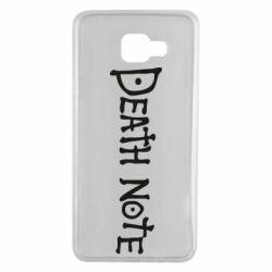 Чохол для Samsung A7 2016 Death note name