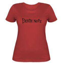 Жіноча футболка Death note name