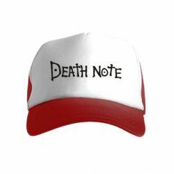 Дитяча кепка-тракер Death note name