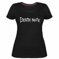 Жіноча стрейчева футболка Death note name