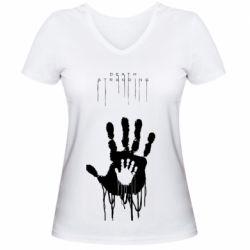 Жіноча футболка з V-подібним вирізом Death Stranding