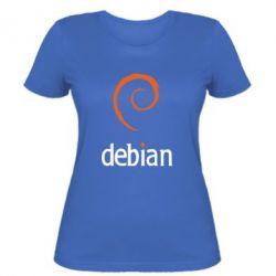 Женская футболка Debian - FatLine