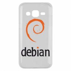 Чехол для Samsung J2 2015 Debian