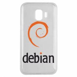 Чехол для Samsung J2 2018 Debian