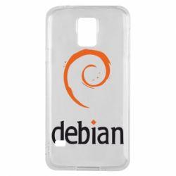 Чехол для Samsung S5 Debian