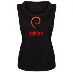 Женская майка Debian - FatLine