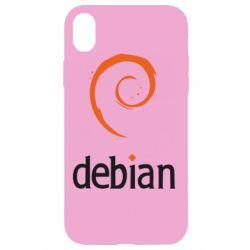 Чехол для iPhone XR Debian