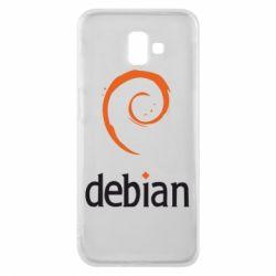 Чехол для Samsung J6 Plus 2018 Debian