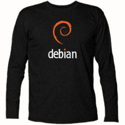 Футболка с длинным рукавом Debian - FatLine