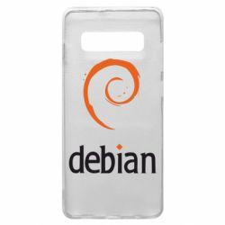 Чехол для Samsung S10+ Debian