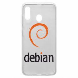 Чехол для Samsung A20 Debian