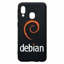 Чехол для Samsung A40 Debian