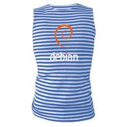 Майка-тельняшка Debian - FatLine