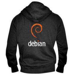 Мужская толстовка на молнии Debian