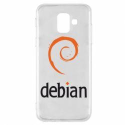 Чехол для Samsung A6 2018 Debian