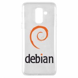Чехол для Samsung A6+ 2018 Debian