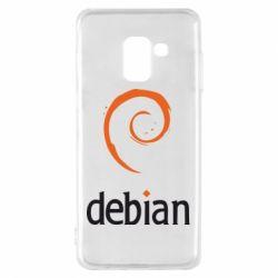 Чехол для Samsung A8 2018 Debian