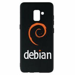 Чехол для Samsung A8+ 2018 Debian