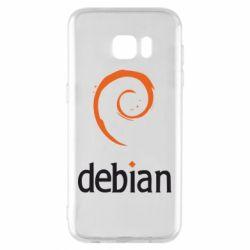 Чехол для Samsung S7 EDGE Debian